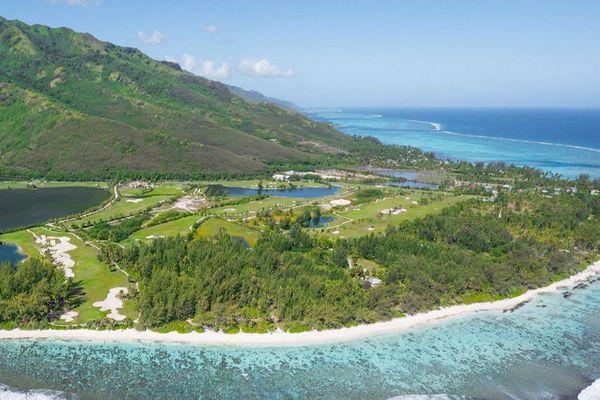 Le magnifique site de la pointe Temae accueille le 33e open de golf jusqu'à vendredi