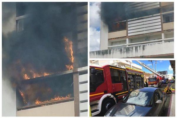 Incendie dans un appartement dans Fort-de-France