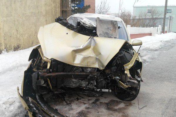 Accident de voiture à Saint-Pierre