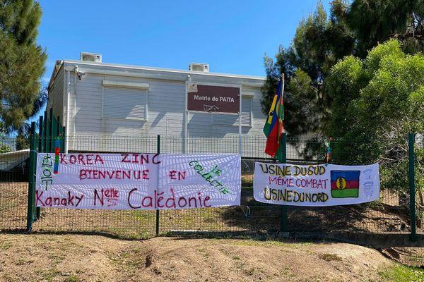 Blocage Ican et collectif Usine pays, mairie de Païta, 19 novembre 2020