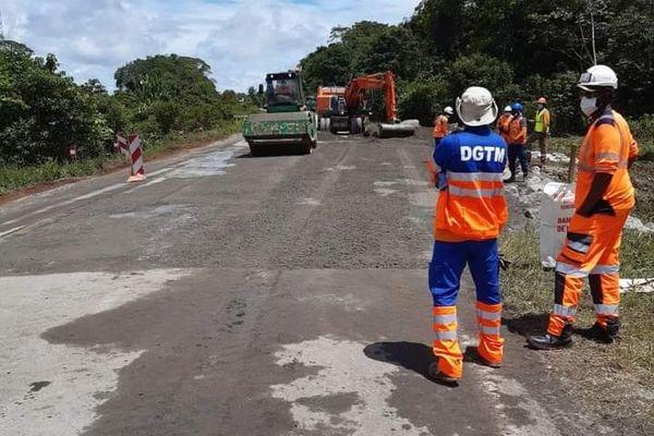 Fin des travaux à hauteur de la crique Moucaya sur la RN1