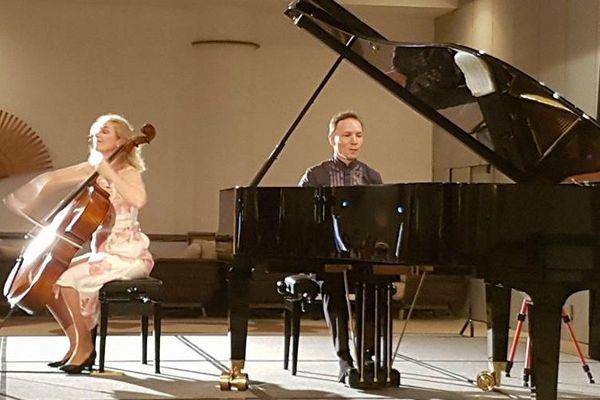 Dernier concert ce soir 20h00 au Conservatoire pour Claire Oppert et Roustem Saikoulov