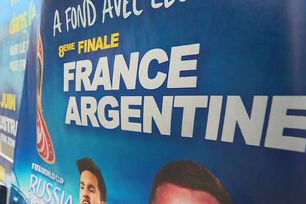 Mondial 2018 France Argentine Fan zone Saint-Pierre