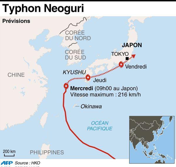 Infographie Typhon Neoguri