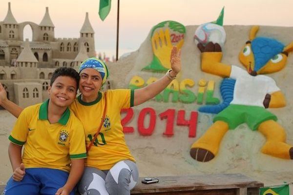 Chateau de sable à Copacabana