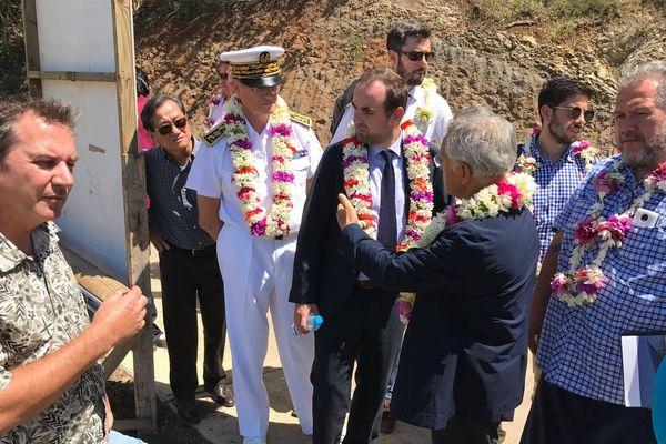 Sébastien le cornu en visite officielle à Bora Bora