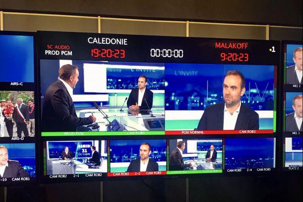 Sébastien Lecornu ministre des Outre-mer invité du JT de NC la 1ere