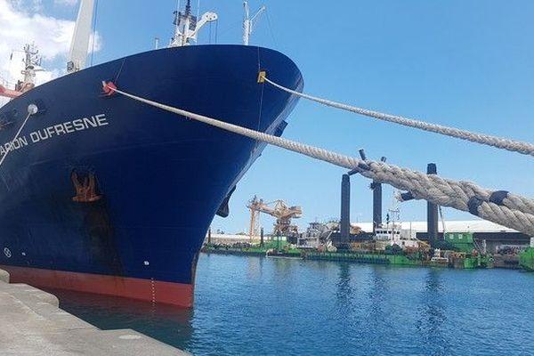 Le Marion Dufresne, navire ravitailleur des TAFF