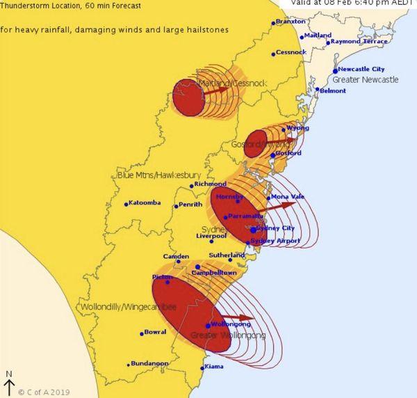 Australie : quatre orages sur la Nouvelle Galles du Sud