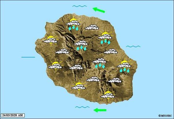 Carte météo 24 mars 2020