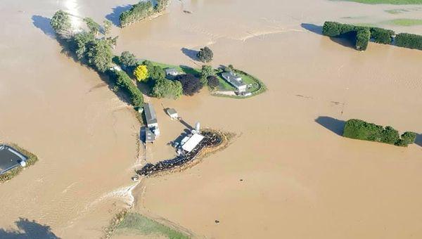 Inondations en Nouvelle-Zélande, Gore sous les eaux de la Mataura, 5 février 2020