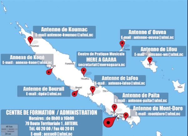 AFMI NC : réseaux d'enseignement