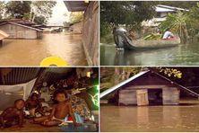 Les inondations de 2006 dans la vallée du Maroni en Guyane.