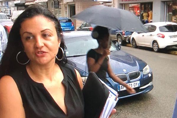 Gabrielle Nicolas avec son avocat Fabien Barthe