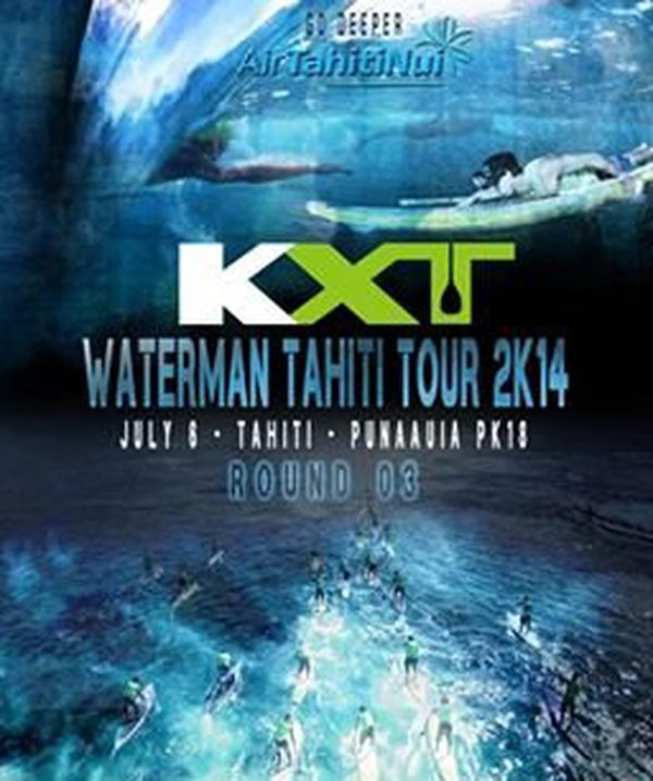 affiche Waterman Tahiti Tour round 3