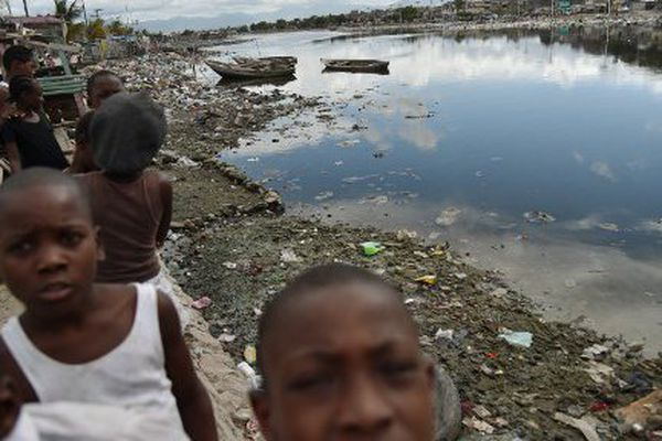 Enfants à Cap-Haïtien avant le passage d'Irma