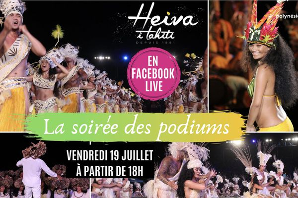 Heiva : la 1ère soirée des podiums en Facebook Live