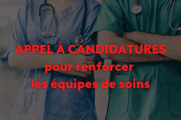 Appel à candidature pour renforcer les équipes de soins