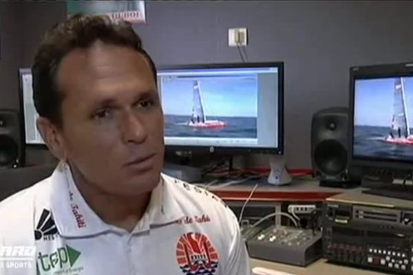 "Teva Plichart, skippeur-régleur de ""Trésors de Tahiti"""
