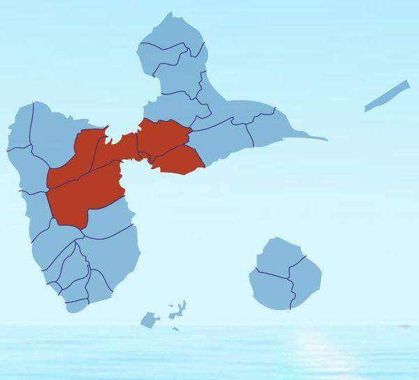 Carte niveau rouge Guadeloupe air