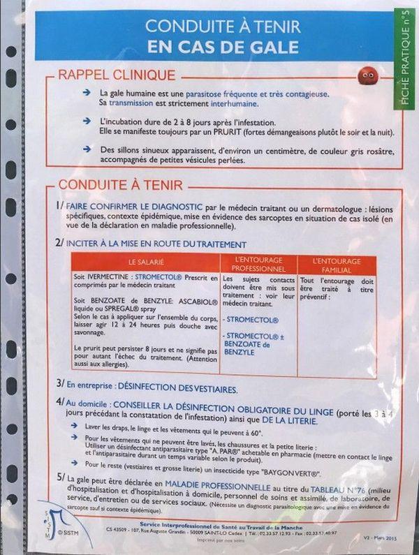 cas de gale ecole Raymond Mondon consignes 281119