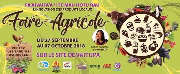 Affiche Foire agricole 2018