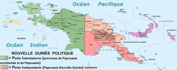 Carte de Papouasie entière