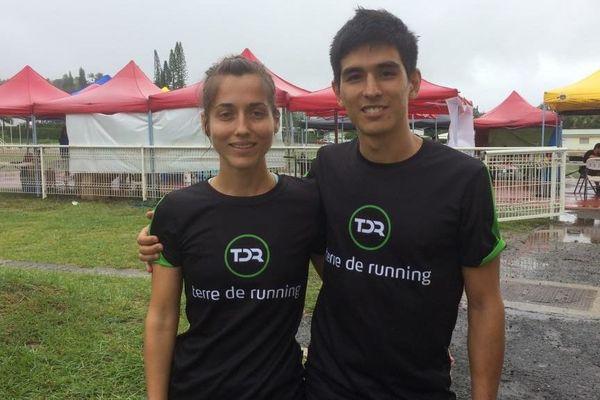 Axelle Nardoux et Guillaume Boccas au Trail de la rentrée, Mont-Dore, 16 février 2019