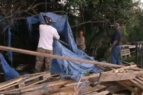 Destruction d'un point de vente d'un marchand ambulant à Saint-Louis