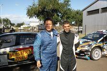 52e Tour Auto de la Réunion, équipage en tête Thierry Law long et son copilote a droite 250712