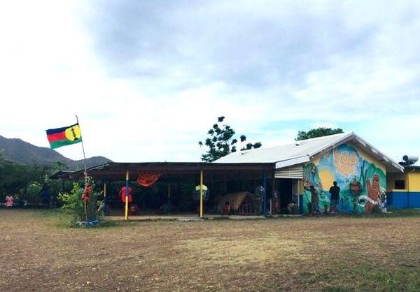 Maison commune de Nepou, blocage des mines, 6 février 2020