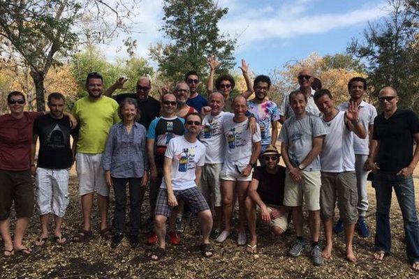 Les 15 coureurs avant le départ Grand Raid 2016