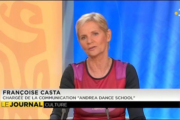 """Invitée du journal :  Françoise Casta, - chargée de la communication """"andrea dance school"""""""