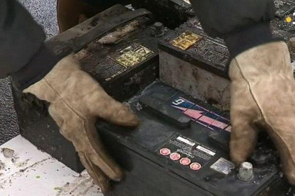 Batteries à la déchèterie de Saint-Pierre
