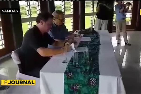 Tahiti Nui Travel : Falleta signe avec Frédéric Grey