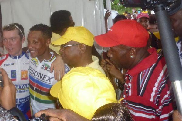 Boris Carène lors de sa victoire, Abymes, tour cycliste 2011