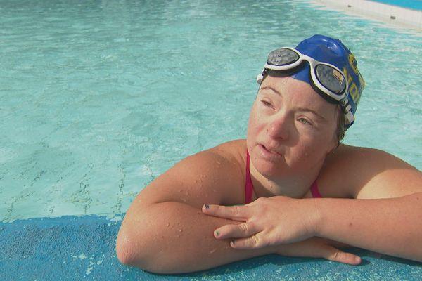 Delphine André enchaîne entre 12 et 18kms de longueurs par semaine au CNC.