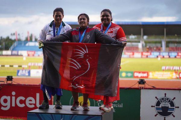 Samoa 2019, Lesly Filituulaga or au disque