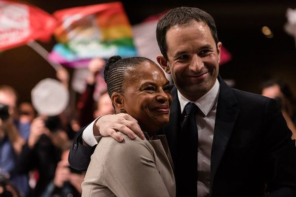 Christiane Taubira et Benoît Hamon
