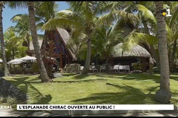 L'Esplanade Jacques Chirac inaugurée