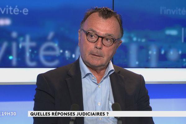 Le procureur Yves Dupas au journal télévisé le 16 février 2021.