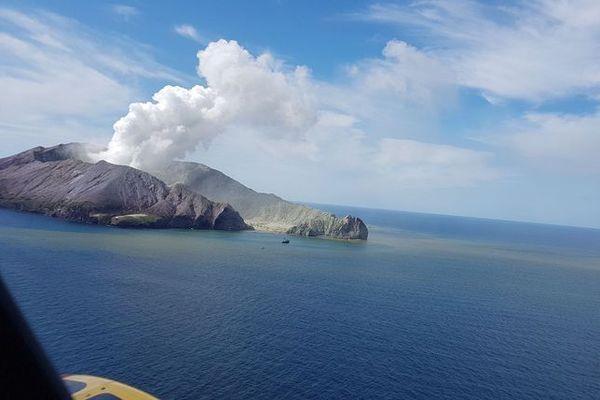 Vue aérienne du volcan nouvelle zelande