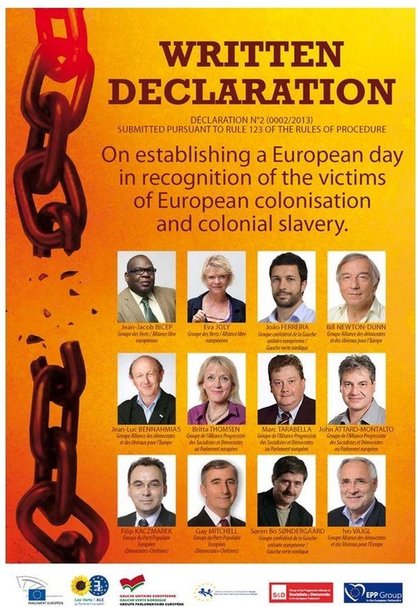 déclaration ecrite europe esclavage