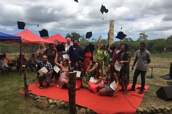 Remise des diplômes à l'université de Koné