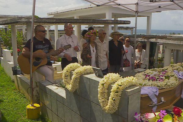 Funérailles d'Acajou à Arue, mercredi 15 janvier