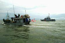 Opération d'arraisonnement au large de la Guyane