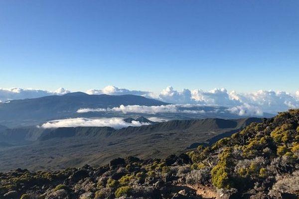 Nuages sur le volcan