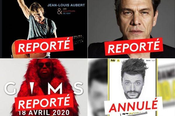 Gims, Jean-Louis Aubert et Marc Lavoine reportés, Ken Adams annulé