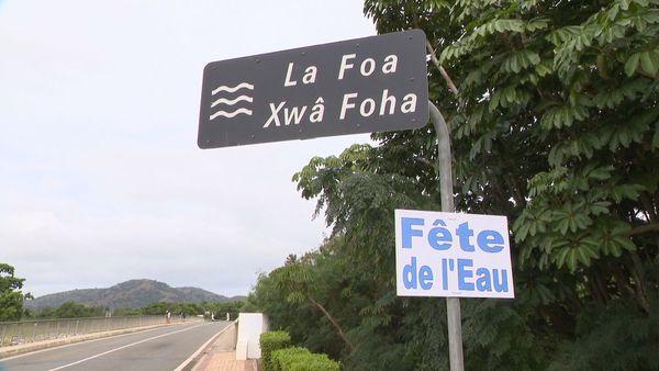 Fête de l'eau à La Foa, panneau