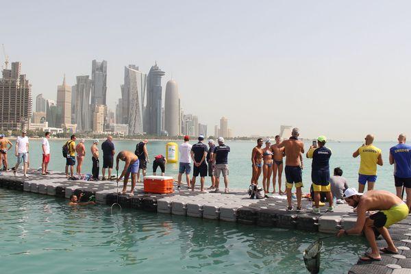 Le site du départ de la Coupe du Monde de Doha